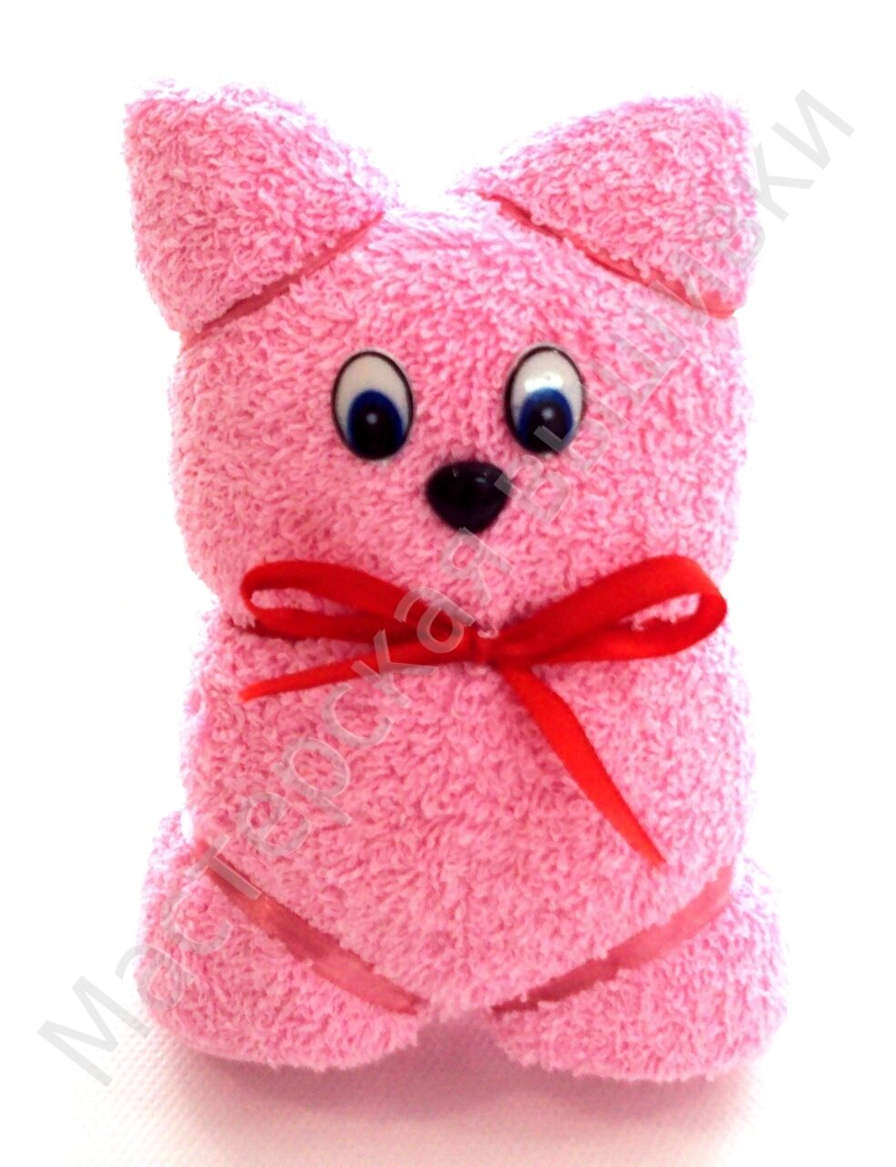 Как с полотенца сделать мишку